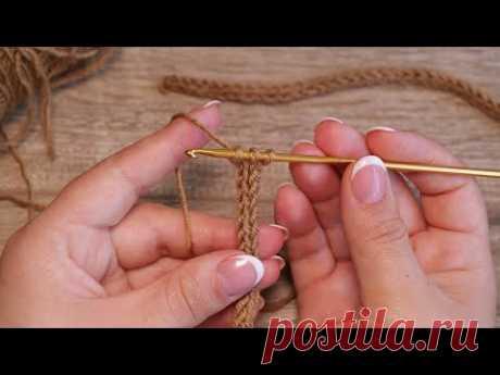 Вязаный шнур I-Cord крючком 🧶 Crochet I-Cord