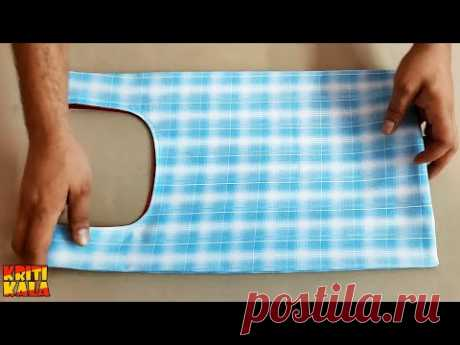 How to Make Beautiful Shopping Bag at Home || DIY Shopping Bag Making || Kriti Kala