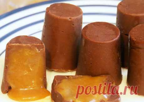 Рецепты десертов - 2 в 1! шоколад и карамель