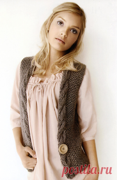 Knitted Amber vest | STAY-AT-HOME