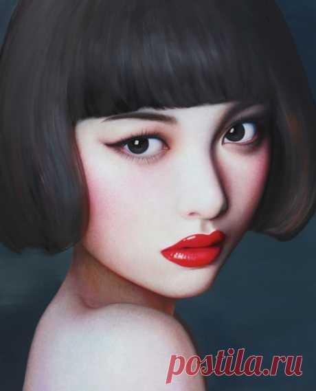 Las muchachas japonesas del pintor 张向明 (Chzhan Xiangming)