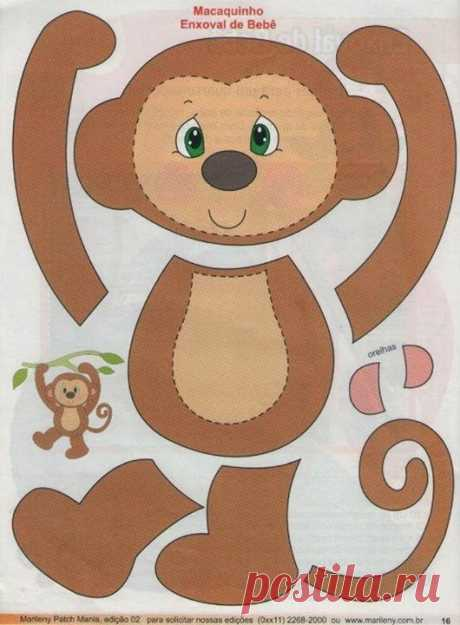 1000+ ideas about Monkey on Pinterest | Appliqué