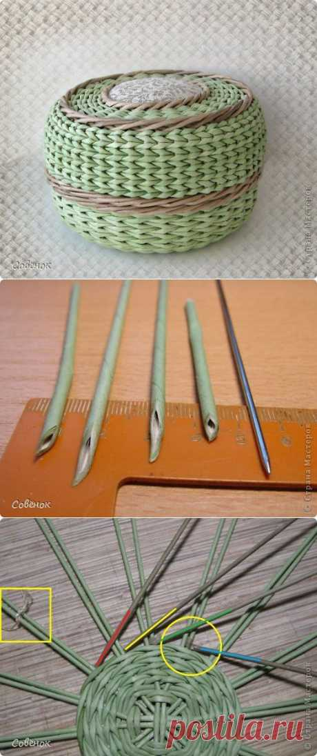 (+1) сообщ - Очень подробный мастер-класс о плетении из газетных трубочек | Очумелые ручки