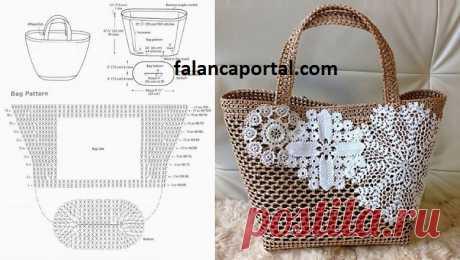 Hasır İpten Dantelli Çanta Modeli | Falanca Kadın Portalı Son zamanlarda örgü çantalar çok moda. Şimdi bizde sizlerle hasır ipten dantelli çanta modelinin ayrıntılı yapılışını paylaşıyoruz. Her yerde, her mevsimde