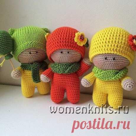 Пупсики Йо-йо, игрушки крючком Описание: https://womanknits.ru/vyazanie-dlya-doma/vjazanye-igrushki/pupsiki-jo-jo-igrushki-kryuchkom