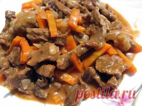Мясо тушеное по-кабардински или «Либжэ»