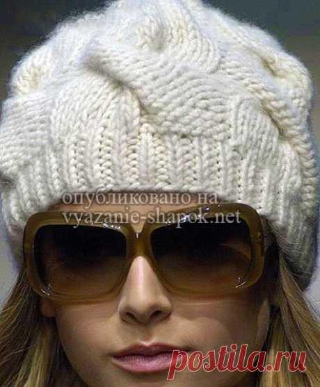 Шапка с косами спицами — Burberry   Вязание Шапок - Модные и Новые Модели