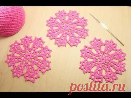 Как связать ажурный мотив круг - вязание крючком Crochet beginners