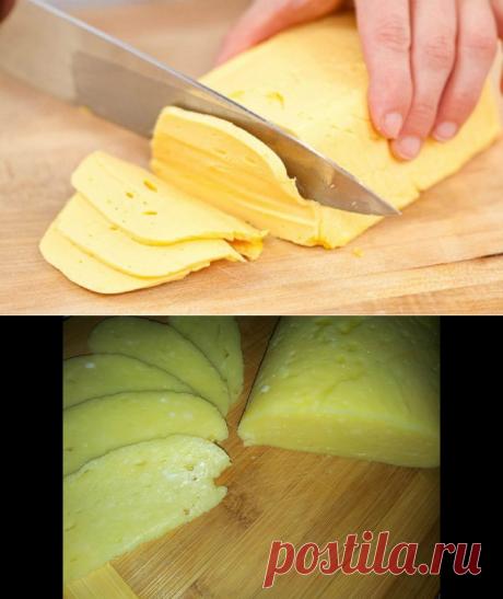 Домашний твердый сыр по очень легкому рецептику