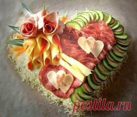 Украшаем блюда на праздничный стол