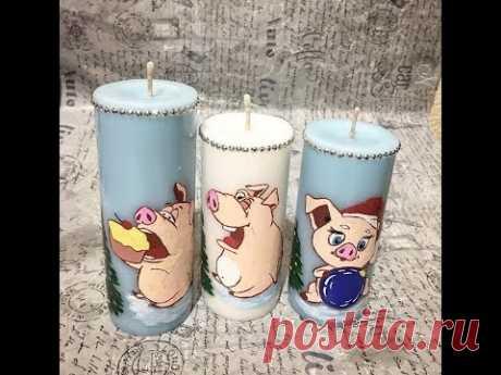 Мастер класс «Рисунки на свечах»,  World of candles. Блог Натальи Березюк