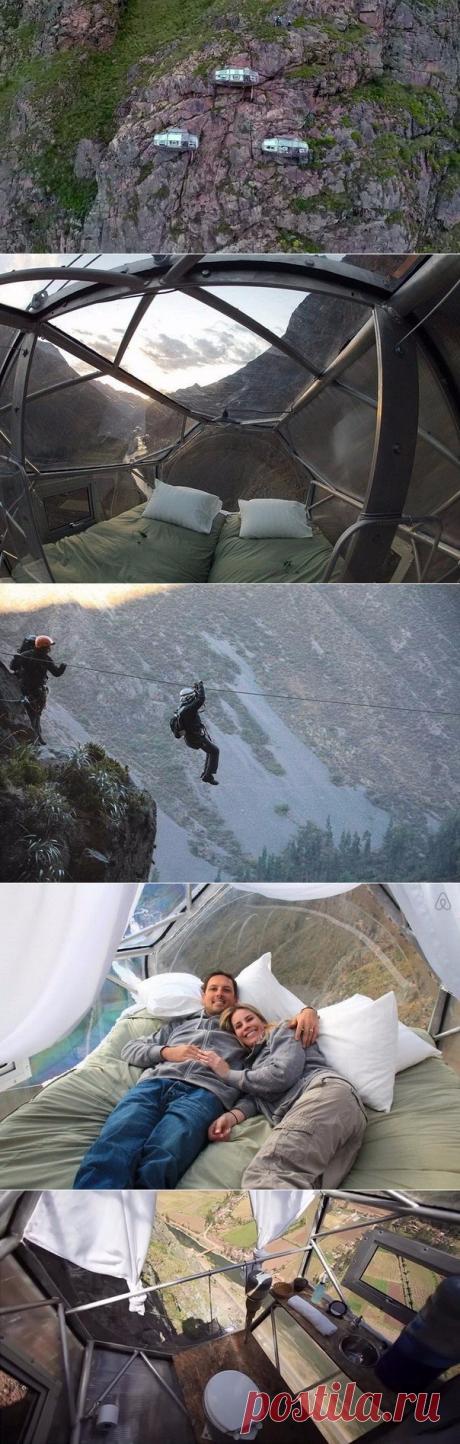 Капсульный отель на отвесной скале в Куско - Путешествуем вместе