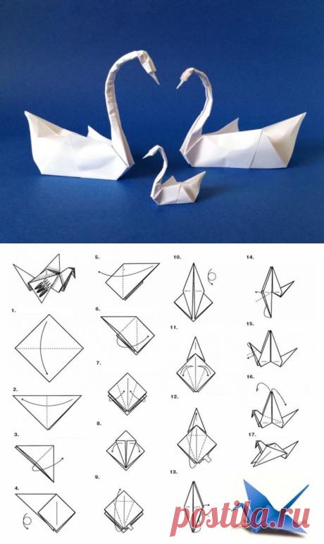 Как сделать лебедя из бумаги оригами — инструкция