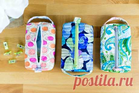 The Pillbox Pouch {free sewing pattern for a cute zipper pouch} — SewCanShe | Free Sewing Patterns and Tutorials