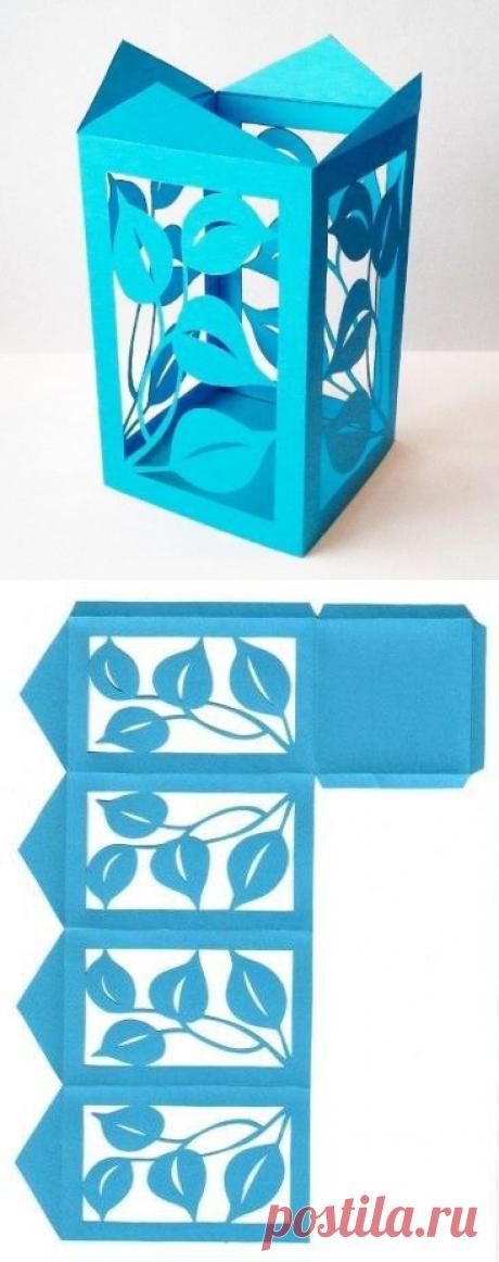 Шаблон для создания необычных бумажных фигур