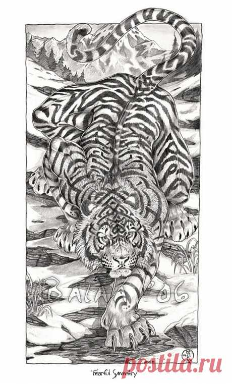 """Fearful Symmetry-Graphite Print 8.5x11"""" on Storenvy"""