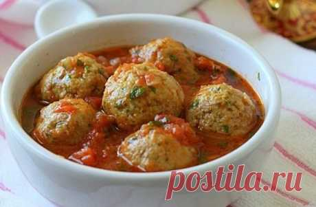 My dear forcemeat dish — ground beef Balls with cheese in tomato sauce