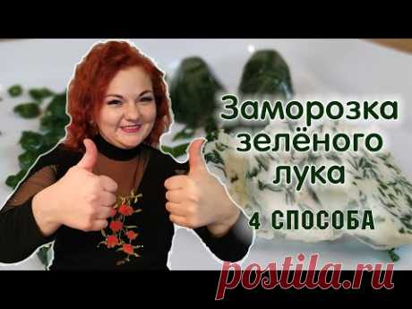 ЗАМОРОЗКА зеленого лука - 4 СПОСОБА / Как заморозить зелень на зиму и советы как ее использовать