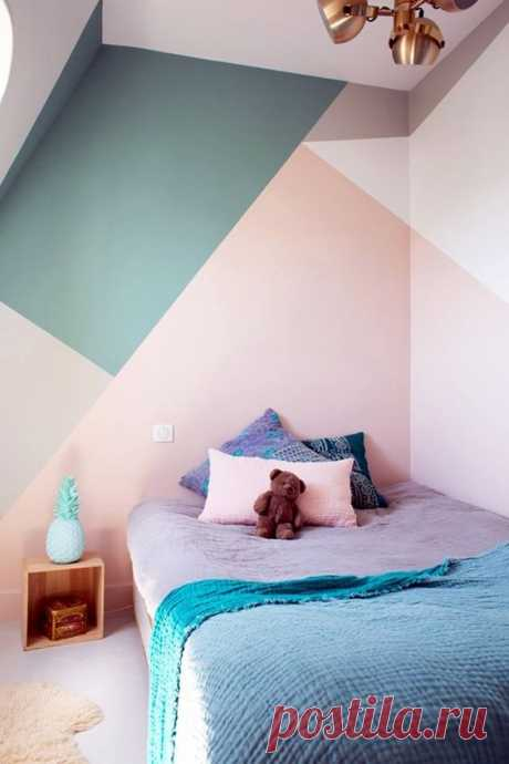 Unusual options of walls painting | our houses