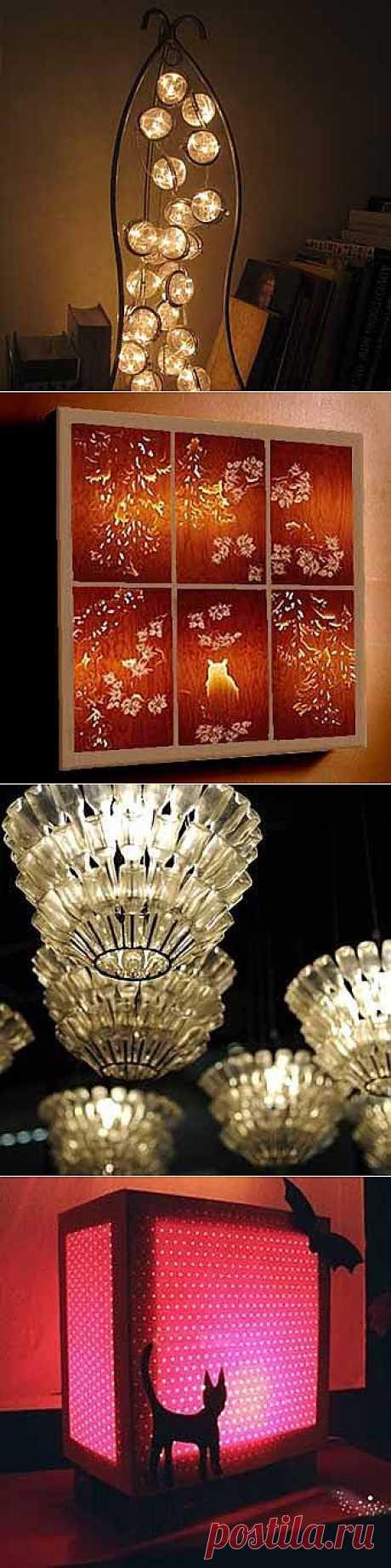 7 замечательных и необычных ламп своими руками - Учимся Делать Все Сами