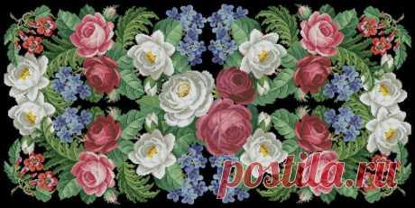 Вышивка красивые цветы на черной канве. Вышивка на черной канве схемы   Домоводство для всей семьи.