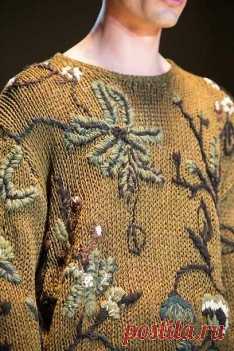 Украшаем вязаную одежду - просто, но эффектно!   Юлия Сковородина   Яндекс Дзен