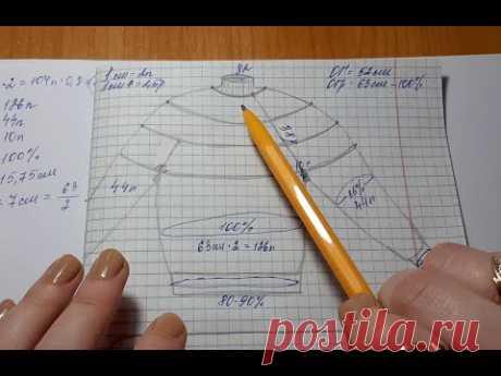 Расчёт круглой кокетки и всего изделия. Очень подробный мастер-класс.
