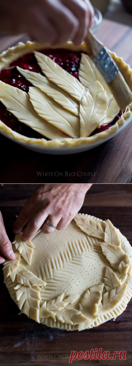 Decoration of pies!