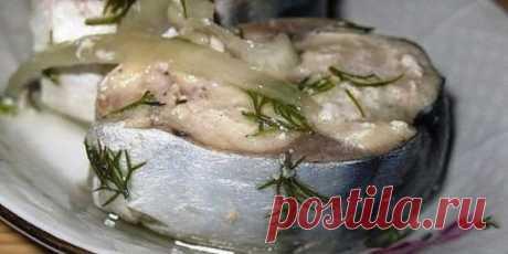 Сагудай из скумбрии — это закуска из рыбы, которая просто тает во рту. Оторваться очень трудно, а точнее невозможно! Ингредиенты: скумбрия — 3 штуки; лук — 4-5 штук; соль—3 столовые ложки; сахар — 1 столовая ложка; растительное масло — 0,5 стакана; уксус 9% — 0,5 стакана; один стакан кипяченой воды; зелень укропа; перец черный горошком; пару лавровых листов. Сагудай из скумбрии. Пошаговый рецепт Если у вас свежемороженая скумбрия, разморозьте ее (не до конца). Пусть будет немного примороженной,