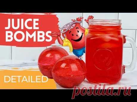 Juice Bombs using KoolAid and Sugar Shell   Tea Bomb and Chocolate Bomb Mold