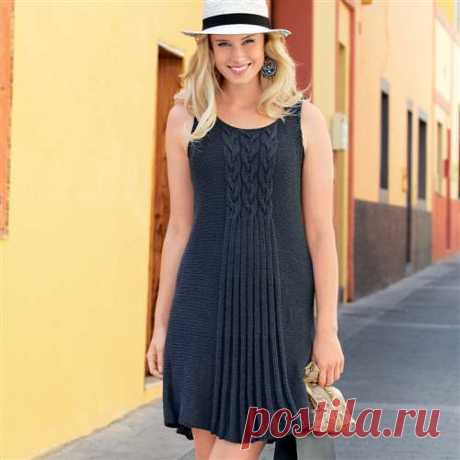 """Summer dress with a pattern \""""Braid\"""" spokes"""