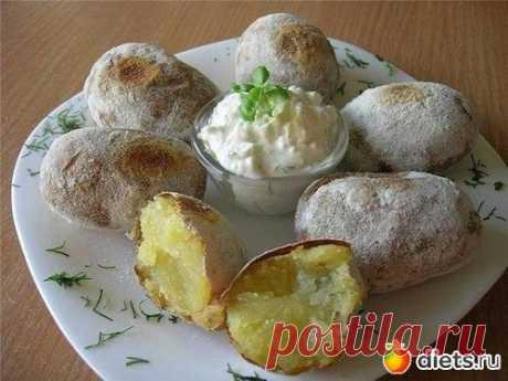 Печеная картошка.