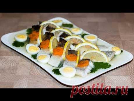 Заливная рыба (судак) | Jellied Fish (Walleye) - YouTube