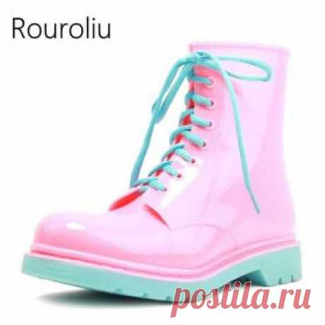 Яркие резиновые сапожки на дождливую погоду | shopperali