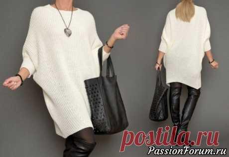 Стильное платье патентной резинкой | Вязание для женщин спицами. Схемы вязания спицами