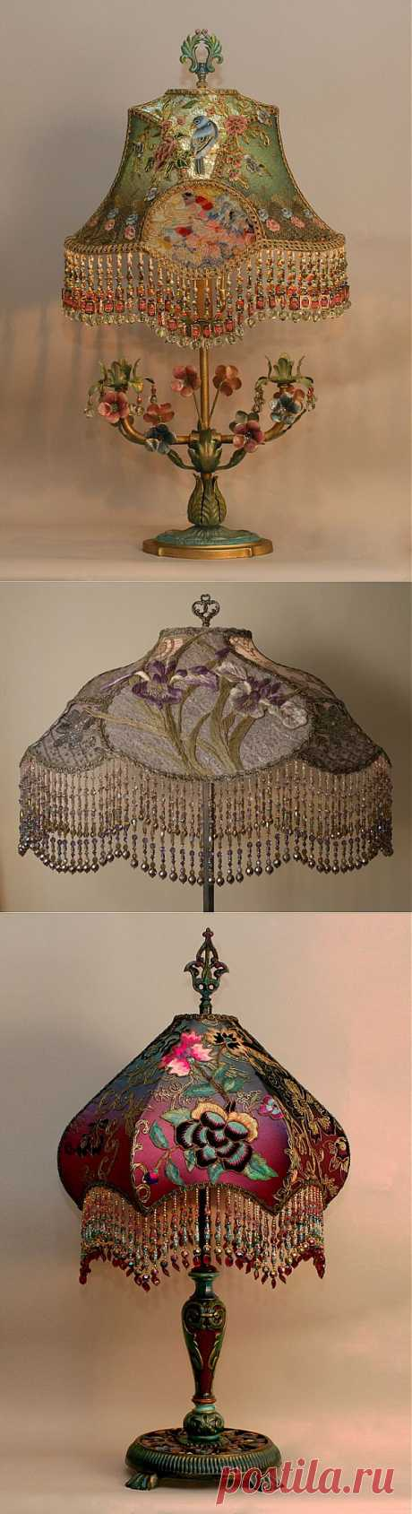 THE EMBROIDERED LAMPS.