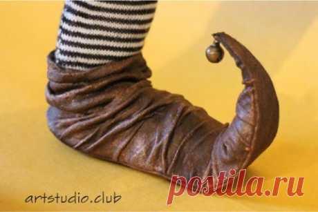 Пулены – башмаки с загнутыми носками | Веб студия рукоделия