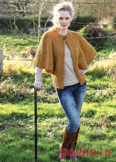 Вязание жакета Cape Sleeve Вязание свободного жакета Cape Sleeve от дизайнера Sian Brown