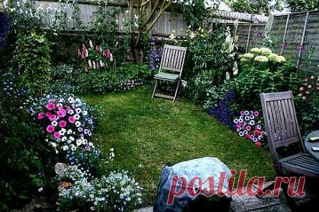 Крошечный цветущий дворик