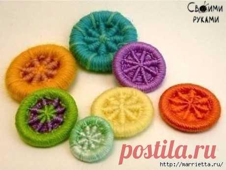 Пуговицы для вязаной одежды