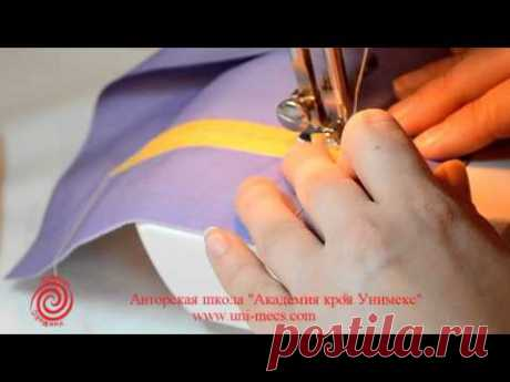 Pocket in a frame on two turnings - sewing lessons for beginners from Academy of a cut of Unimeks