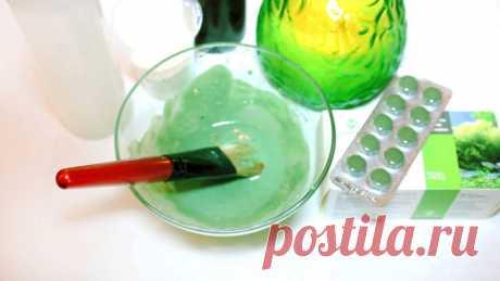 Антивозрастная маска: Спирулина – 5 таблеток. Витамин А – 3 капли. Желатин – 2 столовые ложки. Вода – четверть стакана