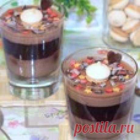 Шоколадно-фруктовое суфле с печеньем Кулинарный рецепт