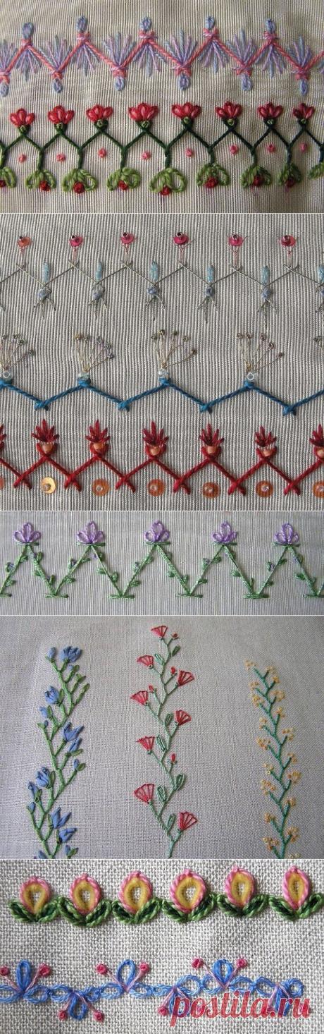 Идеи вышивки для декора одежды и аксессуаров