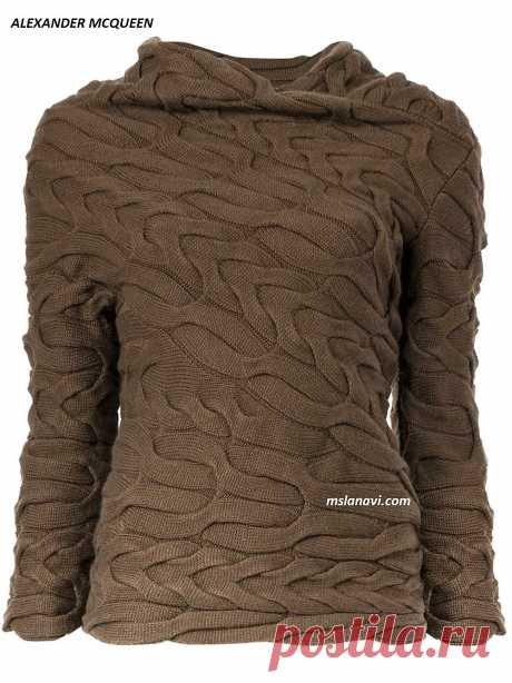 Вязаный пуловер спицами | Вяжем с Лана Ви