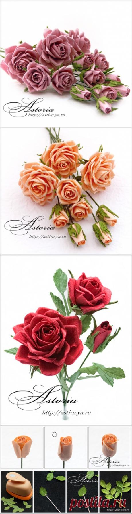 Розы из бумаги. Очень красиво. Мастер-класс