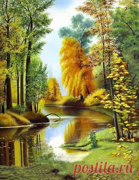 Схема вышивки «Осенний этюд» - Вышивка крестом