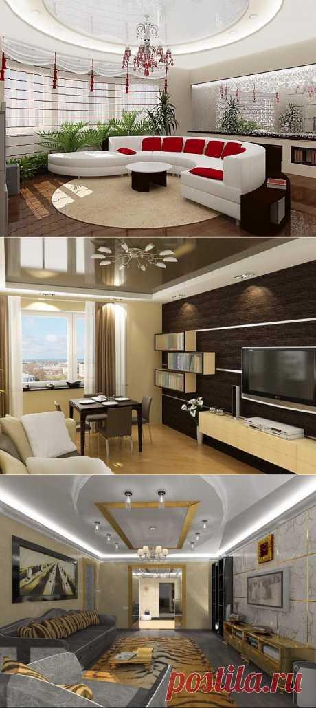 50 вариантов оформления интерьера гостиной.