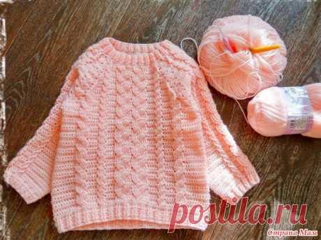 Девчачий свитерок с крючковыми косами