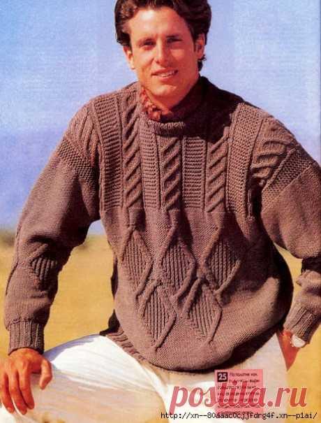 Пуловер с рельефным узором - САМОБРАНОЧКА рукодельницам, мастерицам